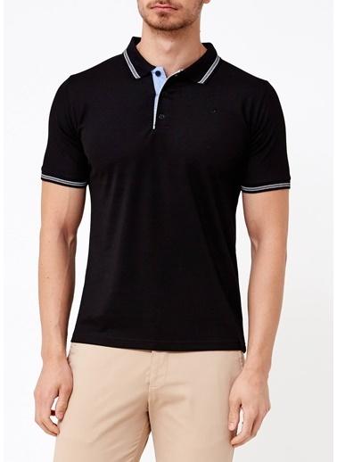 Adze Polo Yaka Tişört Siyah